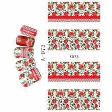 WATER DECAL NAIL STICKER VOLLEDIGE COVER BLOEM ORCHIS NARCISSEN COWBOY CAP LAARZEN KANT A073-078(China)