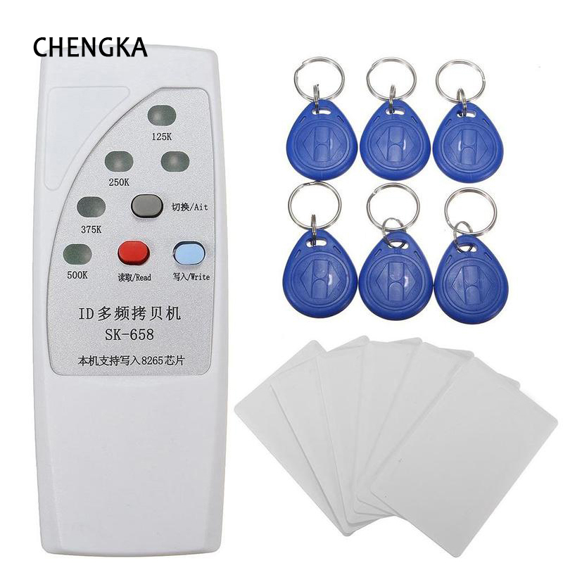 Handheld Rfid Card Reader -Handheld Rfid Writer 13Pcs 125KHz Card Reader Writer Copier Duplicator with 6 Cards/Tags Kit(China)