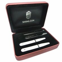 SHANH ZUN 6 Pcs Ceramic Collar Stays for Mens Dress Shirt, Black & White 2.59