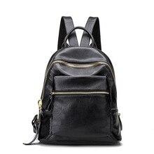 Роскошные Для женщин рюкзак дизайнерские женские Пояса из натуральной кожи Рюкзаки студент школьная сумка большая Ёмкость сумка