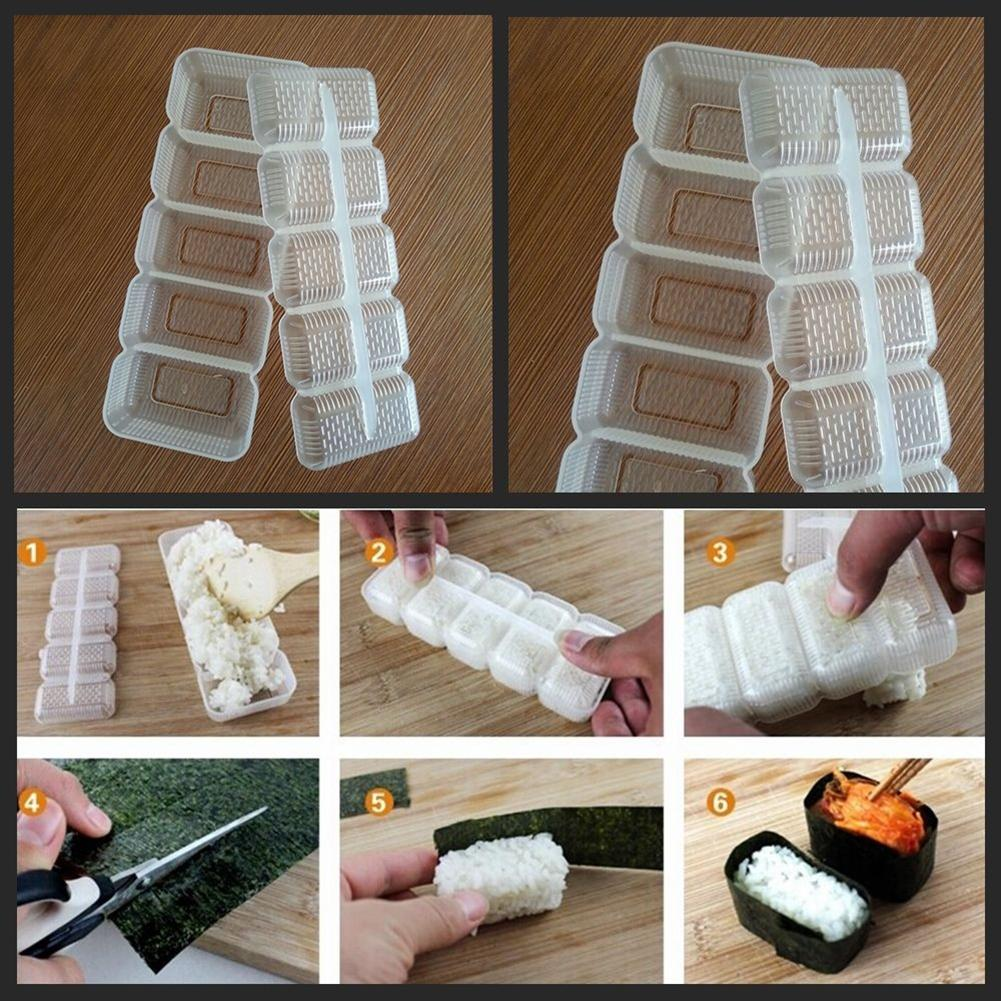 5 Grids Sushi Maker Mold Nori Rice Ball Roll Mold DIY Onigiri Bento Kitchen Tool Bento Cooking Tools Kitchen Accessories image