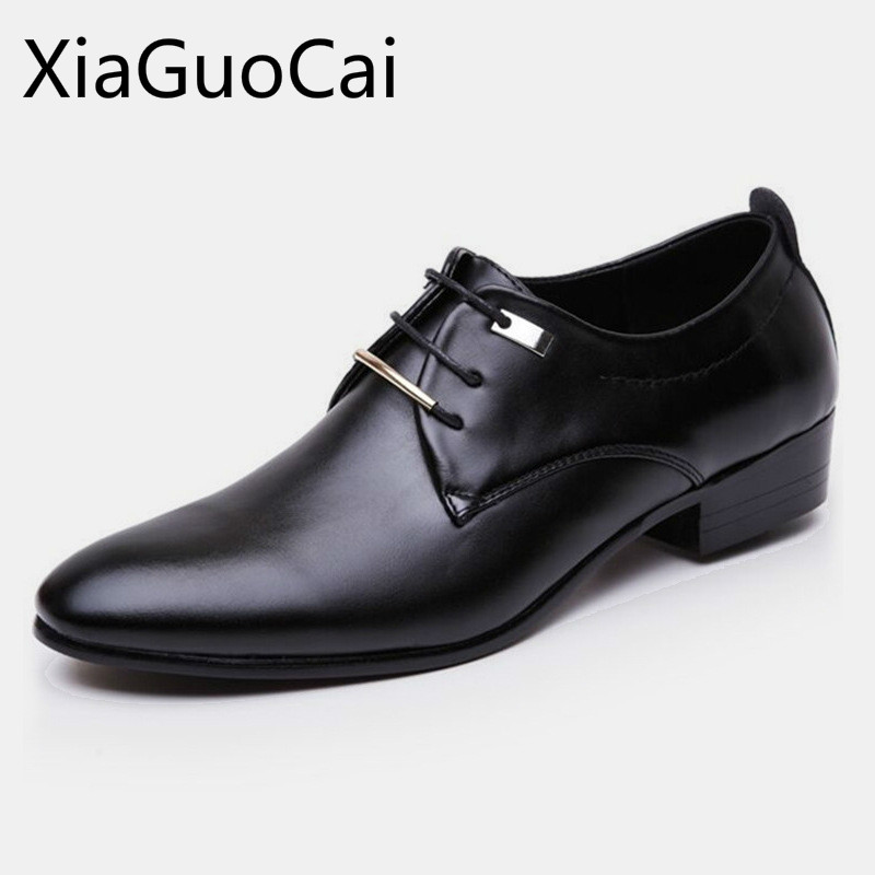 England Style Breathable Oxfords For Mens Waterproof Vintage Flat Men Casual Shoes Height Increasing Casual Shoes