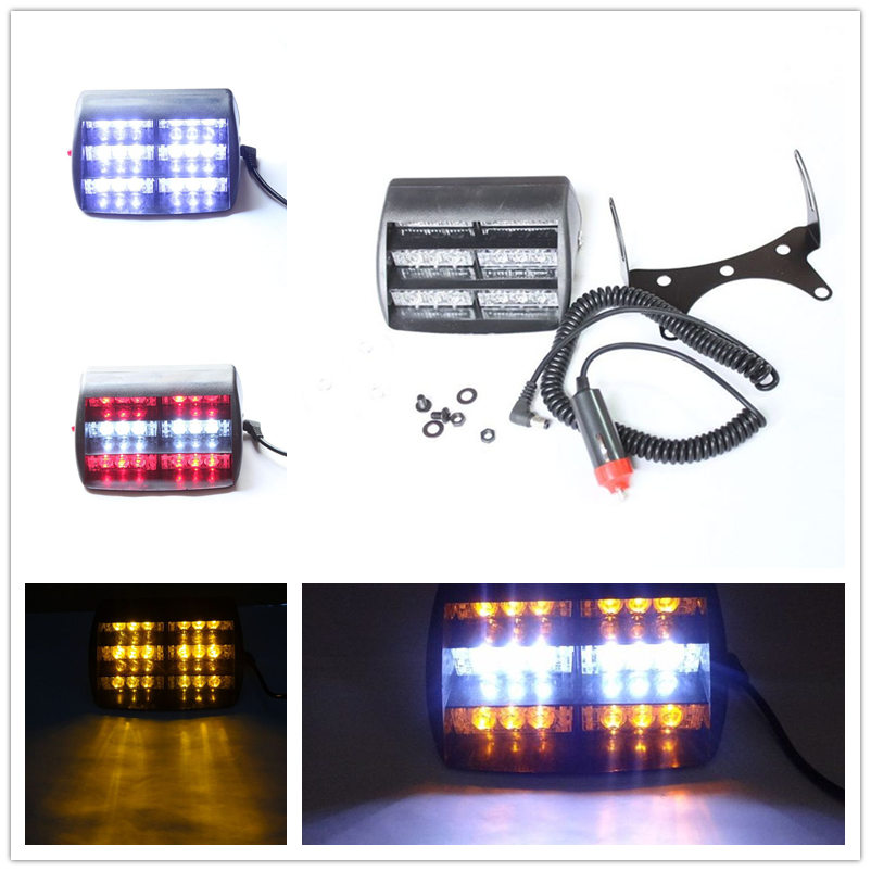 Car-Styling Universial Dashboard Bright 18 LED 3 Strobe Flashing Modes Emergency Lights Warning Signal Flashing Fog Lightbar Hot