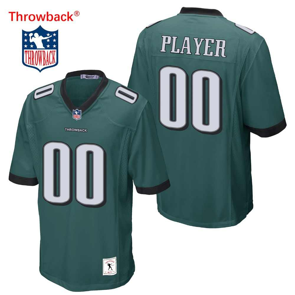 best service 1578b a2abb Throwback Jersey Men's Philadelphia American Football Jersey ...