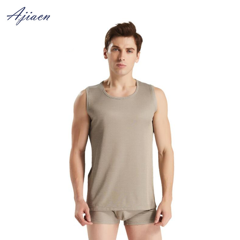 Ajiacn electromagnetic radiation protection silver fiber men's underwear EMF shielding four seasons close-fitting underwear