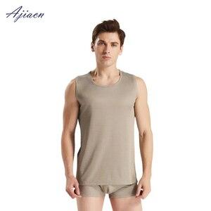Image 3 - Ajiacn electromagnetic radiation protection silver fiber mens underwear EMF shielding four seasons close fitting underwear
