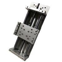 SFU1605 Electric Sliding Table Travel Length 200mm XYZ axis Linear Slide Table+ Nema23 Stepping Motor Base for CNC Engraver DIY