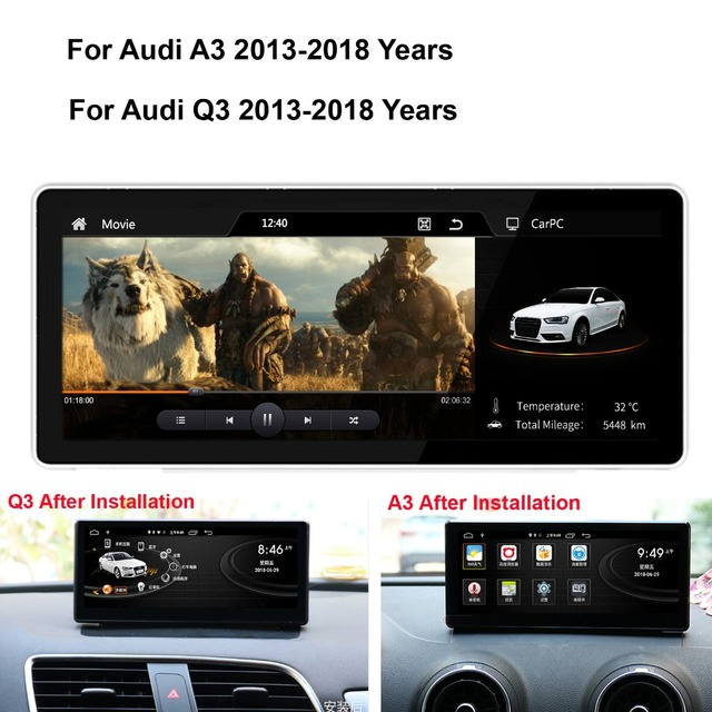 COIKA Android System Car GPS Navi Recorder For Audi A3 Q3 Bluetooth WIFI  Google USB Mirror Link Touch Screen Stereo Video Player