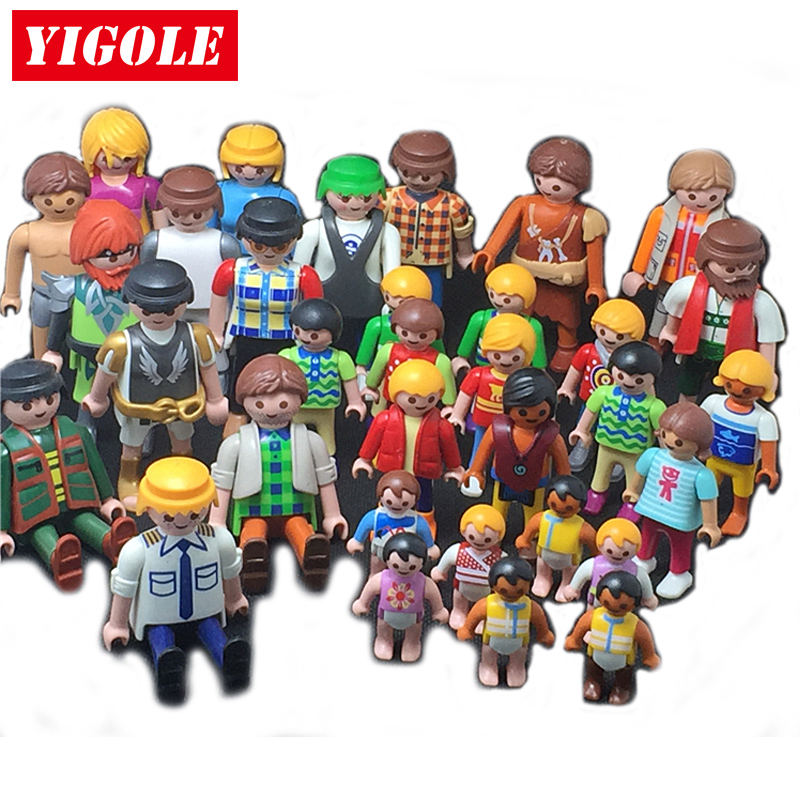 Single One Sale Original Playmobil 3-7cm Figure Summer Fun City Life Action Figures Kids Best Toys Gift Random Shipments
