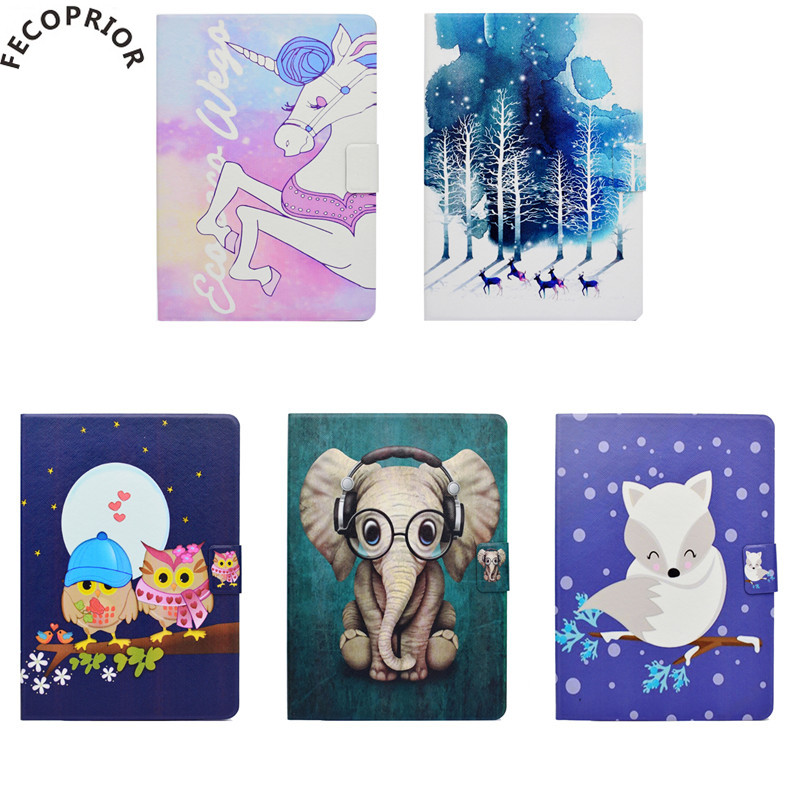 Fecoprior For Samsung Galaxy Tab E T560 T561 SM-T560 TabE 9.6 Case Cover Capa Tablet Leather Shell Stand Card Hold Non Slip ...
