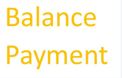 Balance Payment For Extra Cost Like Shipping, Goods