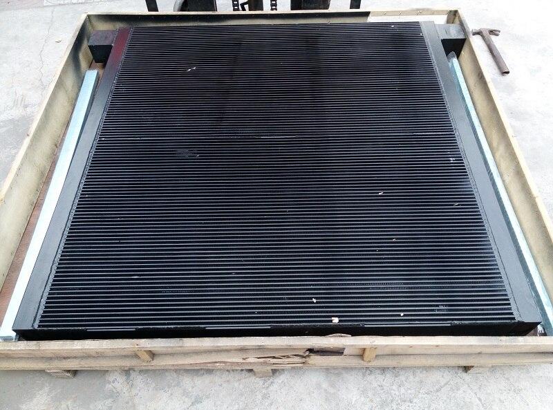 WJIER black plate fin aluminum after cooler oil cooler 89307300 for M200-250 Screw Air Compressor Parts wjier black aluminum plate fin combined air cooler 1622319100 for ga37 75 screw air compressor