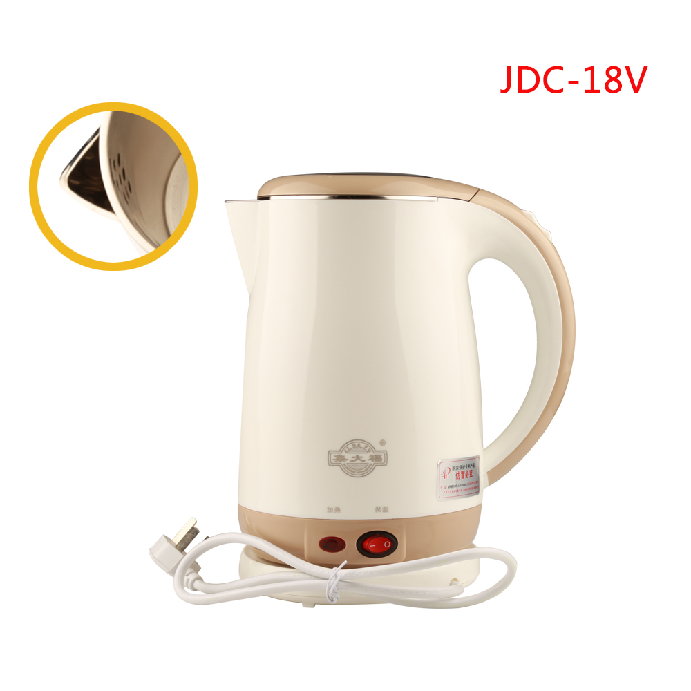 JDC-18V Stainless Steel Electric Kettle With Auto-Off Function Quick Heat Water Heating Kettle apricot 1.8L блуза mango блуза