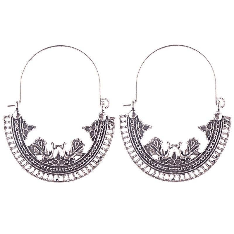 2020 perempuan Perunggu / Warna Silver Vintage Etnis Jhumka Jhumki - Perhiasan fashion - Foto 2