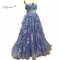 Leeymon ТРАПЕЦИЕВИДНОЕ платье для выпускного вечера 2017 вечернее платье плюс Размеры кружева 3D аппликации Вечеринка платье Настроить CW05