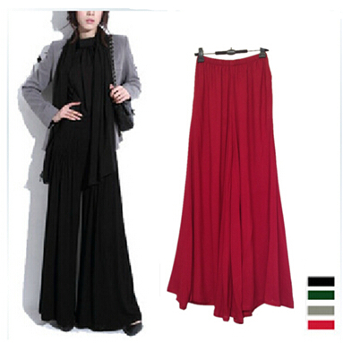 2019 New MS. Casual Wide Leg Pants, Plus Size M - XXXL  Cotton Long Pant Skirts,women Dancing Pants