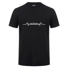 a0d8cca8af Funny Chess Heart Beat Pulse Game Board Pieces Dad Player Custom T Shirt  Men Cotton Short