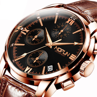 Fngeen Leather Automatic Mechanical Watch Casual Top Brand Luxury Mens Watches Stainless Steel Business Fashion Watch