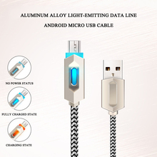 NEW Micro phone USB Cable Smart change Light Data Sync Fast Charger 2A usb Charging Cables for Android Mobile