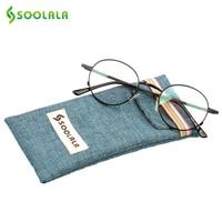 SOOLALA Eyeglasses Frame Clear Lens Glasses Women Frame Optical Men Computer Glasses Black Silver Gold Reading