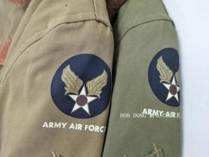 Image 4 - BOB DONG veste de vol pour hommes, uniforme militaire de la Force aérienne USAF, Bomber B15 B 15A