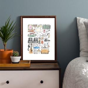 Image 3 - 친구 텔레비젼 쇼 따옴표 벽지 캔버스 포스터 인쇄 벽 예술 그림 장식 그림 현대 침실 홈 장식 프레임 워크