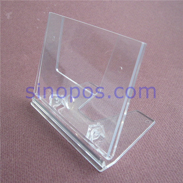 Clear Card Holder Stands Adjustable, Counter L Display Table Top Racks  Plastic Advertising Photo
