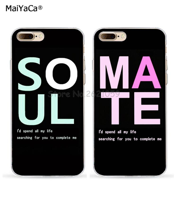 BFF best friends soul mate love pair soft TPU mobil phone case for iphone  5s se 6s 6plus 6splus 7 7plus 8 8plus X XR XS MAX 8d5c2afa6c2