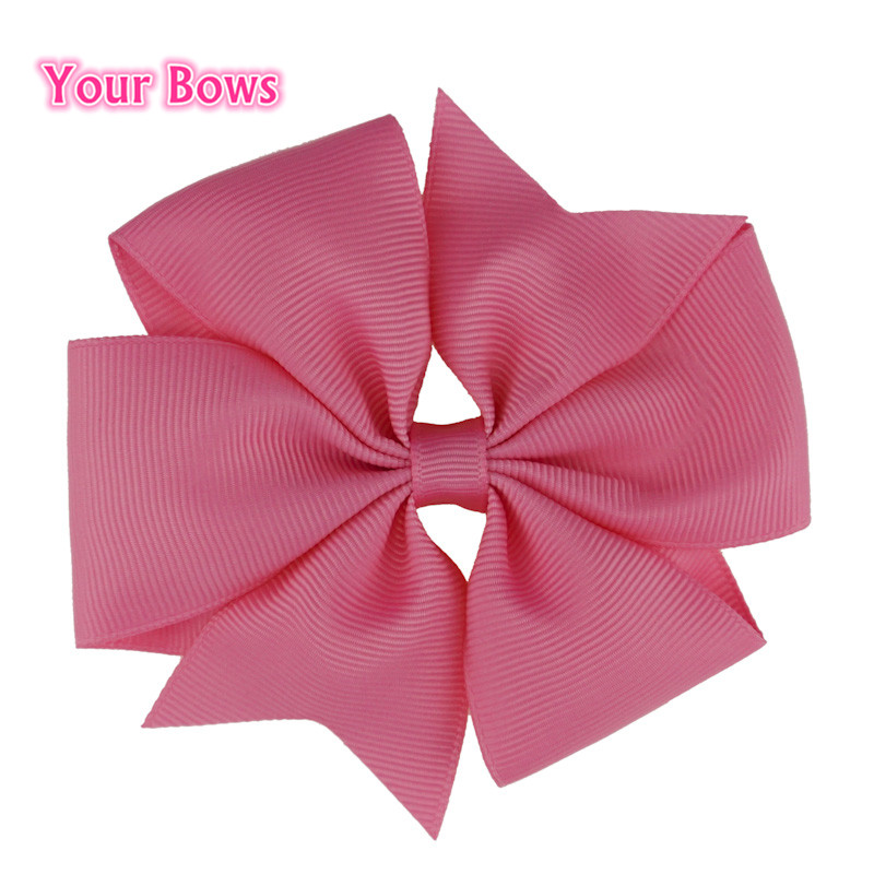 Your Bows 2Pcs/Lot 4 Inches Hair Bows Grosgrain Ribbon Hairpin Bows Hair Clip Cute Girls Hairpins Kids Hair Accessories hot 6pcs lot girls kids fashion cute candy hairpin bowknot hair clip page 4 page 9 page 1 page 4