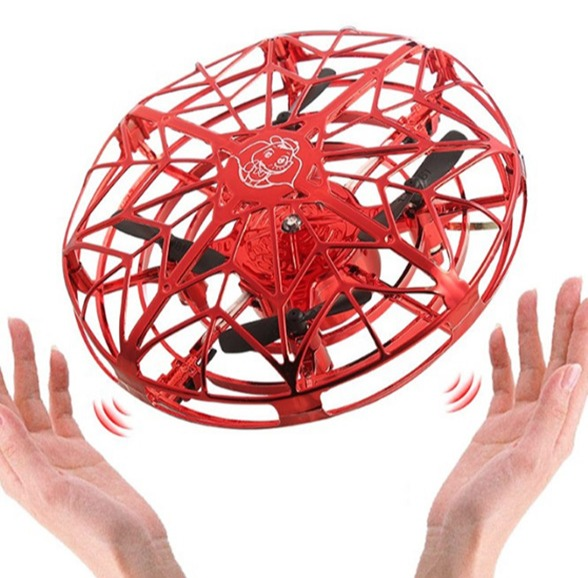 Anti-collision Hand UFO Ball Flying Aircraft RC Toys Gravity Defying Hand-Controlled Suspension drone UFO Helicopter Toy(China)