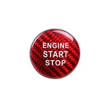 1pc Carbon Fiber Red Engine Start Stop Button Frame Cover high quality For LEXUS IS250/350/200T cover Decoration