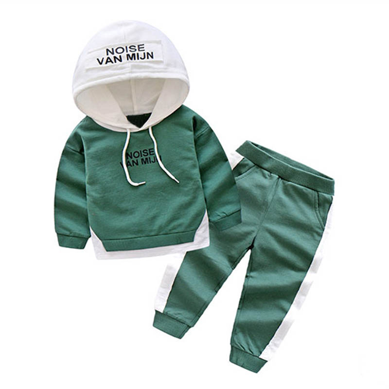 Children Boy Clothing Set Long Sleeve Casual Cotton Sport Kids Clothes Suit Letter Hooded Sweatshirt + Pants For Boy 3-10Years 2017 new boys clothing set camouflage 3 9t boy sports suits kids clothes suit cotton boys tracksuit teenage costume long sleeve