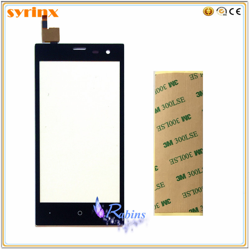 SYRINX 3m Tape Touch Panel Touchscreen For Highscreen Zera S (rev.s) Zera S rev.S Front Glass Sensor Touch Screen Digitizer