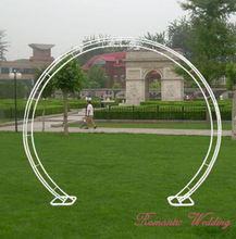 Free shipment Round Arch White Metal Centerpiece for Wedding Decorations Party Event Decoration-2.3m Tall*2.6m Wide