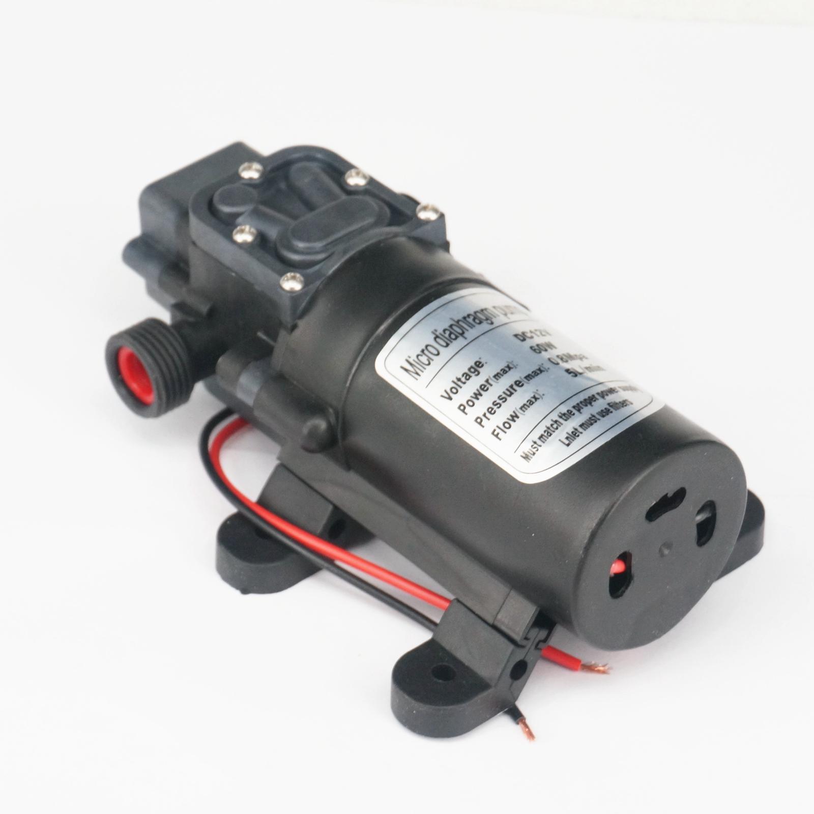"1/2"" BSP Male DC 12V/24V 60W Electric Diaphragm Pump Self-priming Booster Backflow Control For  Car Washer 300L/H 0-60 Degree C"