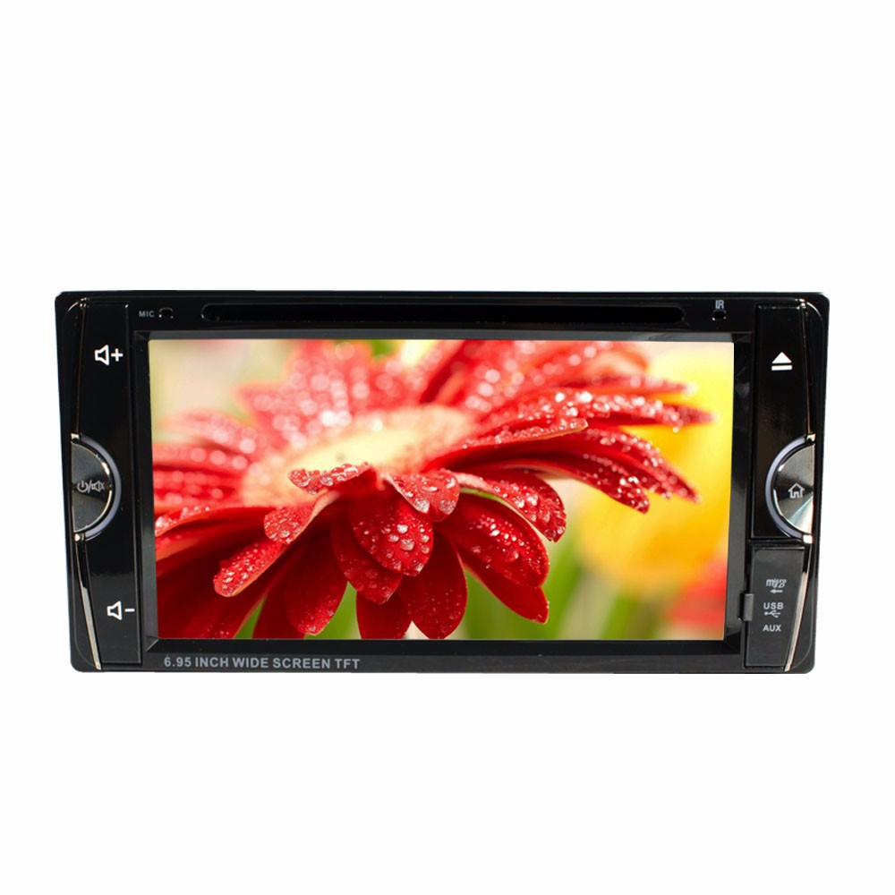 6.95 Double Din Car Video Player 2 Din Car DVD LCD Screen Panel Car Audio Player Support FM/GPS/USB/AUX/iPod SH6984 ipod video 30gb 60gb 80gb lcd screen original
