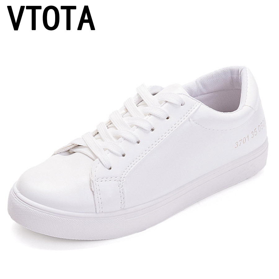 VTOTA נשים לגפר נעלי 2018 חדש סניקרס נעלי אישה לבן פלטפורמת נעליים יומיומיות Tenis Feminino הליכה נשי נעלי H167