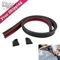 Carbon fiber Rubber Soft Black Car Rear Spoiler 40mm Width 1.5m Length Exterior Rear Spoiler Kit for BMW Audi