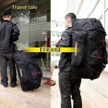 6806edf06 Travel tale 30 pulgadas impermeable hombro barra de tracción bolsa de viaje  al aire libre multifunción equipaje Spinner marca maleta de viaje