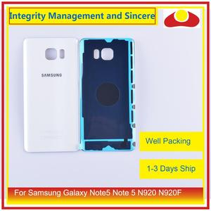 Image 3 - 50 adet/grup Samsung Galaxy Note5 not 5 N920 N920F batarya muhafazası kapı arka arka cam kapak kılıf şasi kabuğu