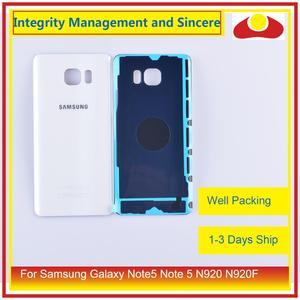 Image 3 - Original para samsung galaxy note5 nota 5 n920 n920f habitação porta da bateria traseira de vidro caso capa chassi escudo