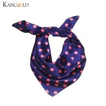 KANCOOLD Scarf women Elegant Head Neck Hair Tie Silk Satin Scarf Shawl Wrap Kerchief high quality fashion Scarf Women 2018Nov21(China)