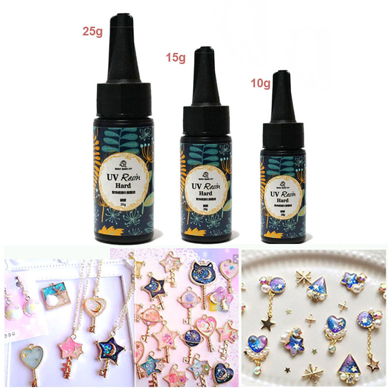 10/15/25g UV Resin Glue Clear Gel Hard Type Solar Ultraviolet Solidify Cure Resin Activated Crafts For DIY Jewelry Mold