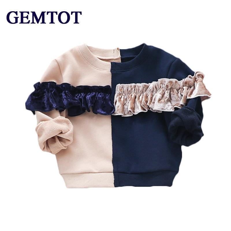 Babykleidung Mädchen GüNstig Einkaufen Gemtot Mädchen Baby Kleidung 2017 Herbst New Fashion Cotton T-shirt Spleißen Oberoberbekleidung Für 0-3 Jahre Neugeborene Und Wenig Mädchen SchüTtelfrost Und Schmerzen