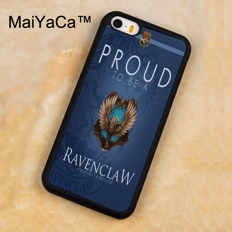MaiYaCa Harry Potter Ravenclaw Printed Soft Rubber Mobile Phone Cases For iPhone 5 5S Back Cover For iphone SE Shell Cover