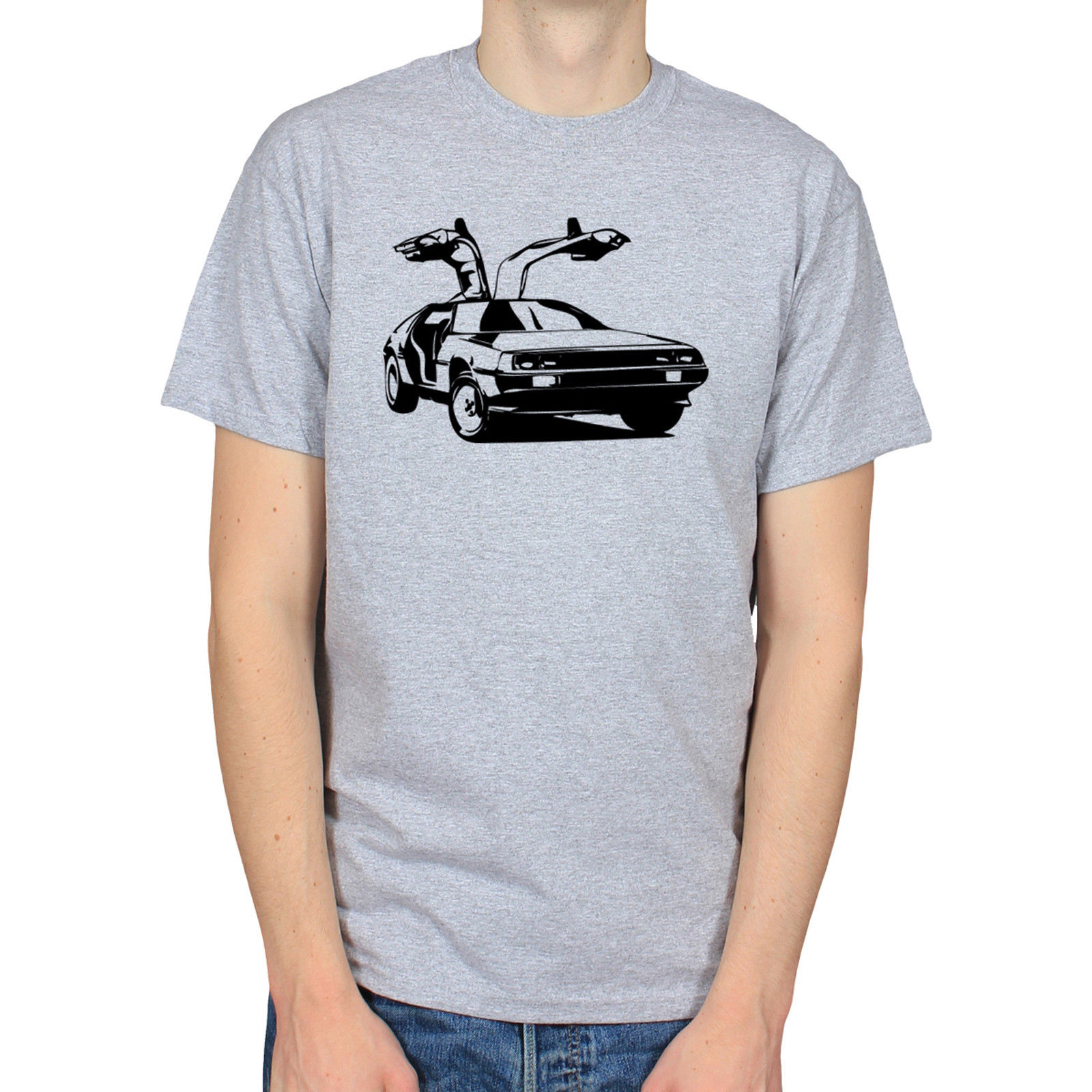 Delorean Back to the Future Movie 80s Car Flux Capacitor t-shirt Male Best Selling T Shirts