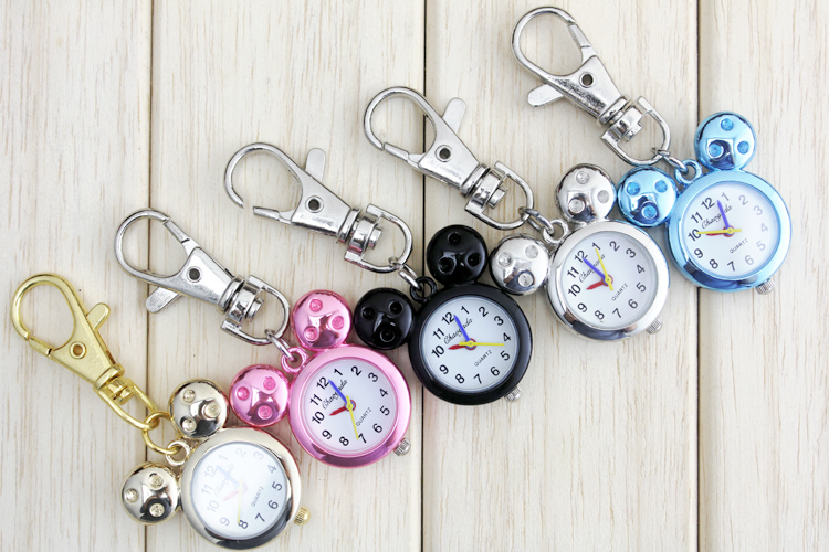 все цены на The Shape Cute Lovely Cartoons Animal Pocket Fob Watch Vintage Retro Necklace Quartz Watch With Key chain