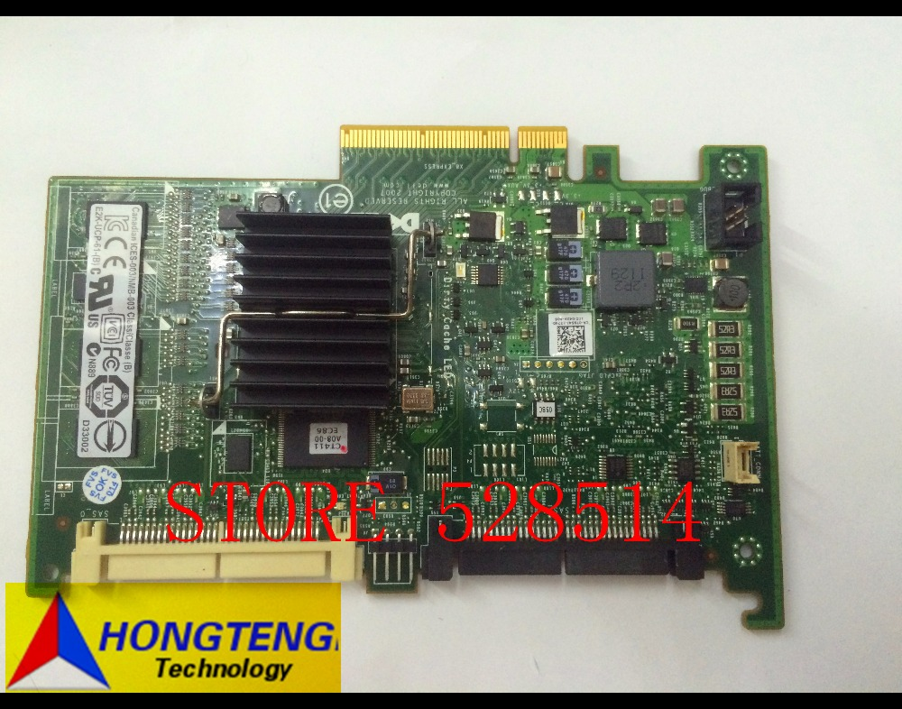 T954J 0T954J cn-0T954J for DELL PERC 6i Dual Channel Raid Controller all rightser ved 100% Test ok