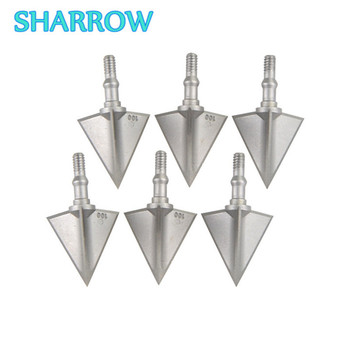 6Pcs Archery Broadheads 3 Blades Screw-in Arrowheads Crossbow Hunting Tips For Bow Outdoor Training Shooting Archery Accessories 10pcs bow fishing arrowheads boardhead archery bowfishing tip point fish tools 2 fixed blades for outdoor shooting accessories