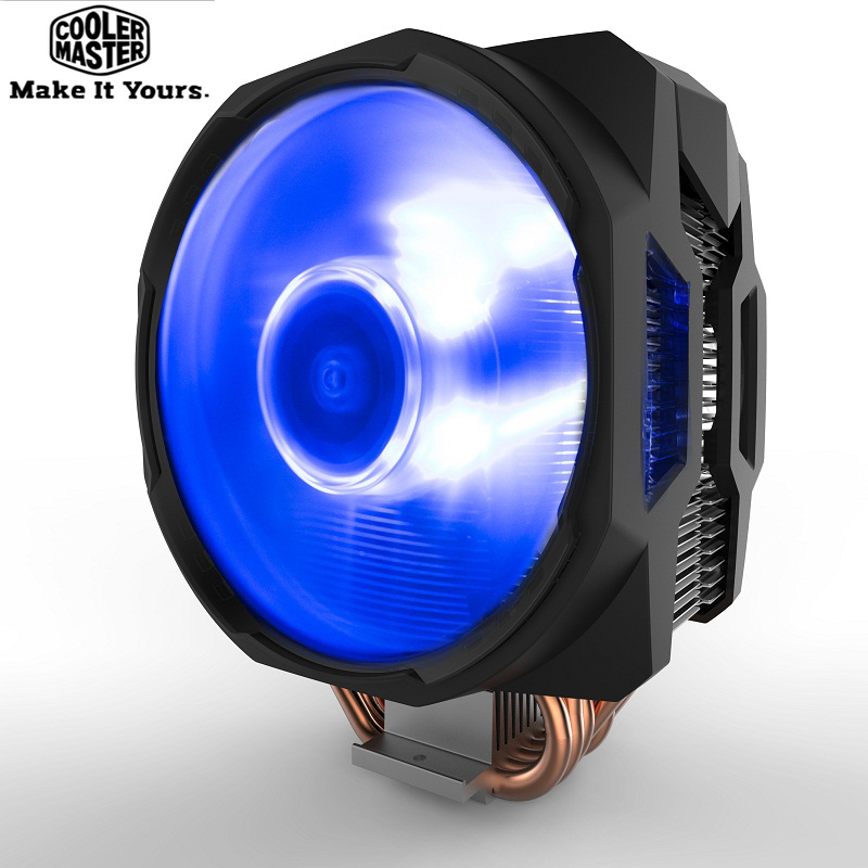 Cooler Master T611P 6 heatpipe CPU Cooler for intel 2011 1156 AMD AM4 Quiet 12cm LED 4pin PWM fan PC CPU cooling radiator fan cooler master 240 cpu liquid cooler two 120mm quiet fan compatible intel 2066 115x amd am4 cpu water cooling fan cooler